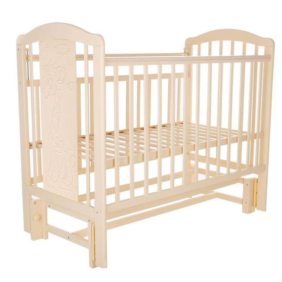 Pituso: Кровать детская NOLI ЖИРАФИК маятник универсальный с накладкой Слон.кость