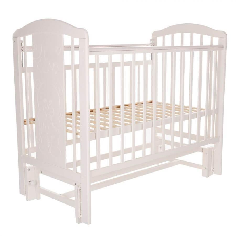 Pituso: Кровать детская NOLI Мишутка маятник универсальный с накладкой Белый