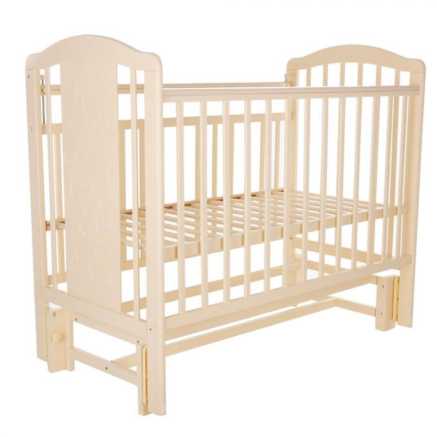 Pituso: Кровать детская NOLI Мишутка маятник универсальный с накладкой Слон.кость