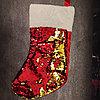 Носок Санта Клауса с пайетками