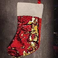 Носок Санта Клауса с пайетками, фото 1