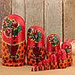 Матрёшка «Майдановская», маки, красный платок, 10 кукольная, 25 см, фото 2