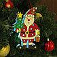 "Декор с подсветкой ""Дед мороз с ёлкой"" 2,2×14×20 см, фото 2"