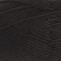 Пряжа 'Детская забава' 20 микрофибра, 80 акрил 140м/50гр (003 чёрный) (комплект из 5 шт.)