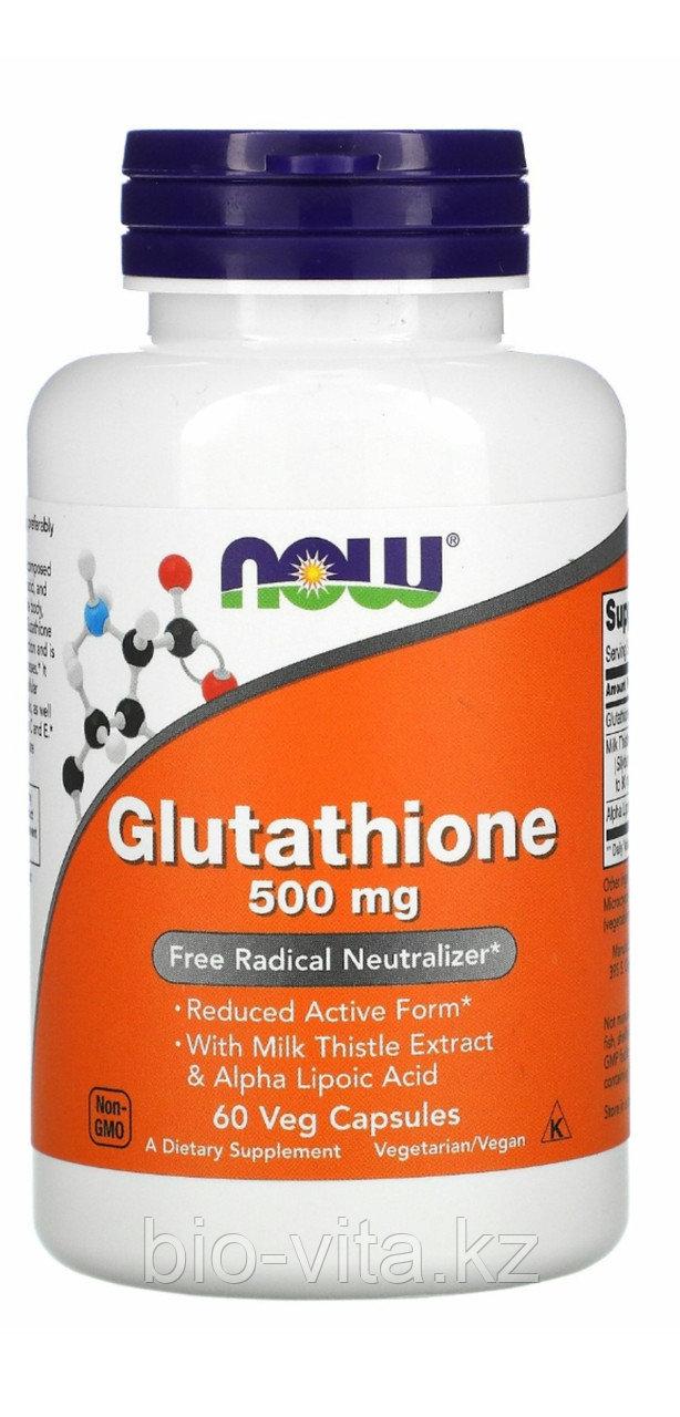 Now Foods, Глутатион, 500 мг, 60  капсул.