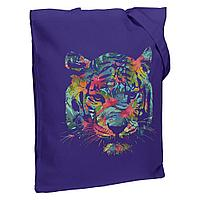 Холщовая сумка Jungle Look, фиолетовая, фото 1