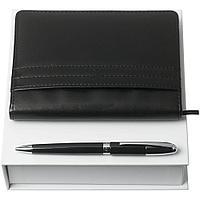 Набор Club: блокнот А6 и ручка, черный, фото 1