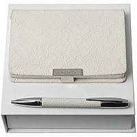 Набор Neve: блокнот А6 и ручка, белый, фото 1