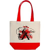 Холщовая сумка Carmen and Сarwoman, красная, фото 1