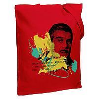 Холщовая сумка «Цитаты. Довлатов. Вранье», красная, фото 1