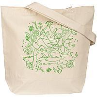 Холщовая сумка Flower Power, неокрашеная, фото 1
