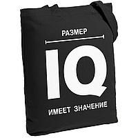 Холщовая сумка «Размер IQ», черная, фото 1