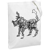 Холщовая сумка «Собака Каляка», молочно-белая, фото 1