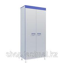 Шкаф лабораторный для одежды с внутренней перегородкой серии СТ.ШОП