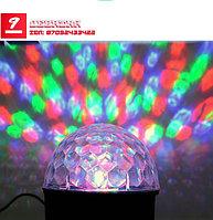 Светодиодный цветомузыкальный проектор Диско-шар с флешкой Magic Ball LED Crystal
