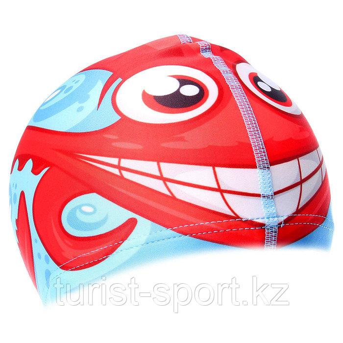 Шапочка для плавания «Осьминожка», детская, текстиль