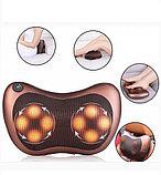 Массажная подушка Massage Pillow  8 роликов в авто и для дома., фото 6