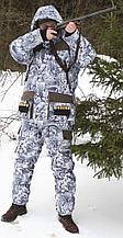 Охотничий костюм зимний ХСН «Орлан» (снежный лес, модель С301-1) размер 182-108, 112-96, 100