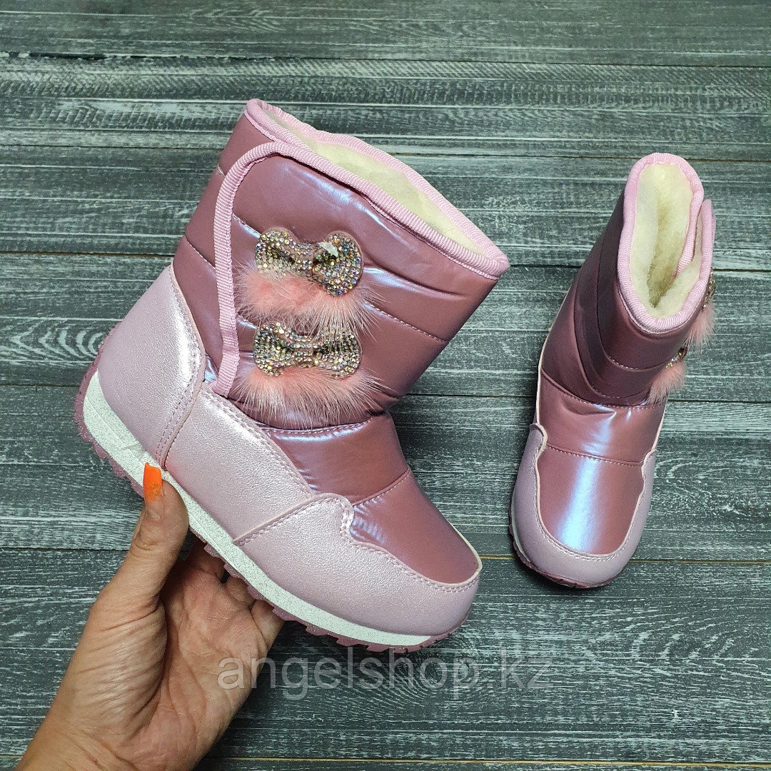 Аляски розовые с двумя бантиками