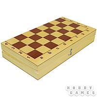 Настольная игра: Шахматы и шашки пластмассовые в дер.упаковке (поле 29см х 29см), арт. 03879