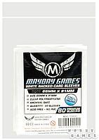 """АКСЕССУАРЫ: Протекторы """"Mayday"""" (стандарт, 80 шт., 66мм*91мм): белые, арт. MDG-7141I"""