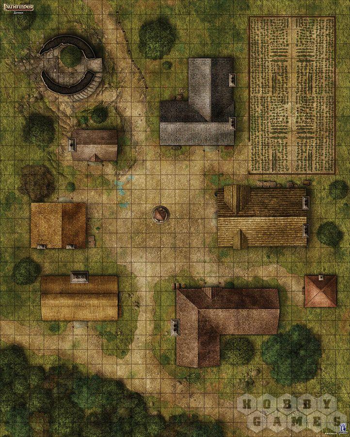 """Настольная игра: Pathfinder. Настольная ролевая игра. Игровое поле """"Деревня"""", арт. 1807 - фото 3"""