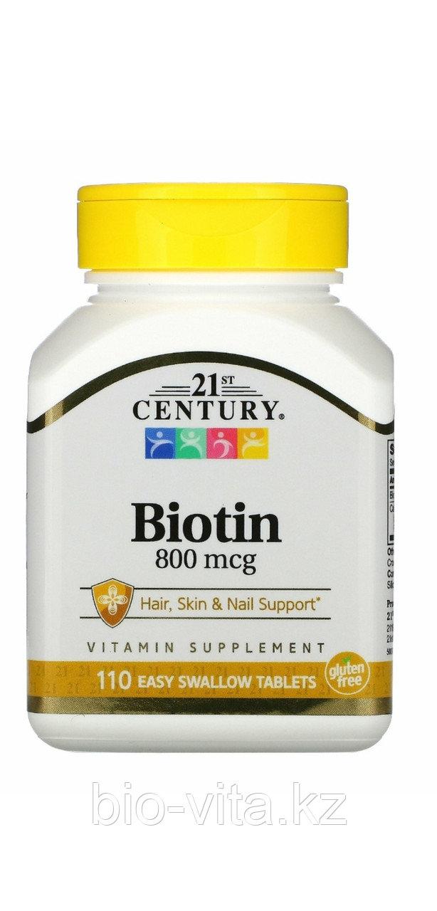 Биотин Biotin 800 mcg.110 капсул.