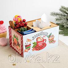 """Органайзер для кухонных мелочей """"Волшебного Нового Года!"""" корица, пирожное, 21,2х11,6х14,2см"""