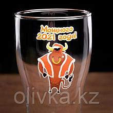 """Бокал для пива в подарочной упаковке """"Мощного 2021 года!"""" 580 мл"""