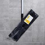 Швабра плоская, телескопическая ручка, микрофибра 40×14×90(120) см, цвет МИКС, фото 2