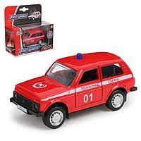 Машина металлическая «Джип Пожарная охрана», масштаб 1:50, инерция