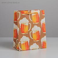 Пакет ламинированный вертикальный «Кружка пенного», MS 18 × 23 × 10 см