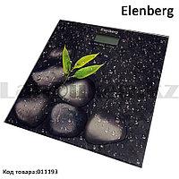 Электронные напольные весы с ЖК- дисплеем с рисунком камня Elenberg