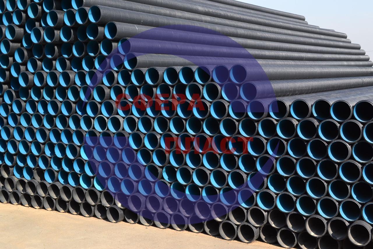 Труба SN8 Ду-200 канализационная гофрированная