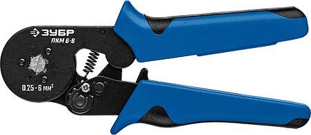 Пресс-клещи ПКМ-6-6, ЗУБР 0.25-6 мм², для втулочных наконечников (22654_z01), фото 2
