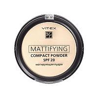 BV VITEX Пудра матирующая Mattifying compact powder SPF20, тон 01