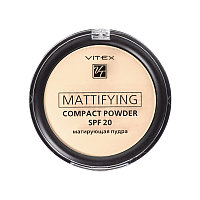 BV VITEX Пудра матирующая Mattifying compact powder SPF20, тон 02