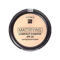 BV VITEX Пудра матирующая Mattifying compact powder SPF20, тон 03