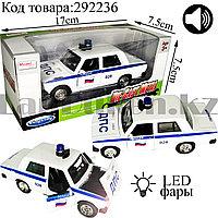 Игрушка детская машинка ДПС металлическая со свето-звуковым сопровождением Die-Cast Metal Model Car Kings-toy