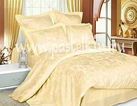 Однотонное постельное белье из х/б жаккарда