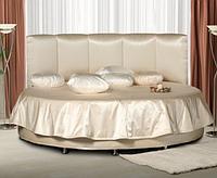Атласное постельное белье на круглую кровать