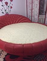 Стеганый наматрасник на круглую кровать из хлопка