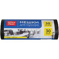 Мешки для мусора 30л OfficeClean ПНД, 48*55см, 6мкм, 30шт., черные, в рулоне