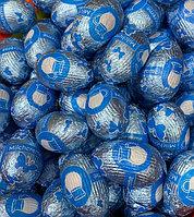 Шоколадные яйца молочный шоколад (Сине-Голубые)1кг