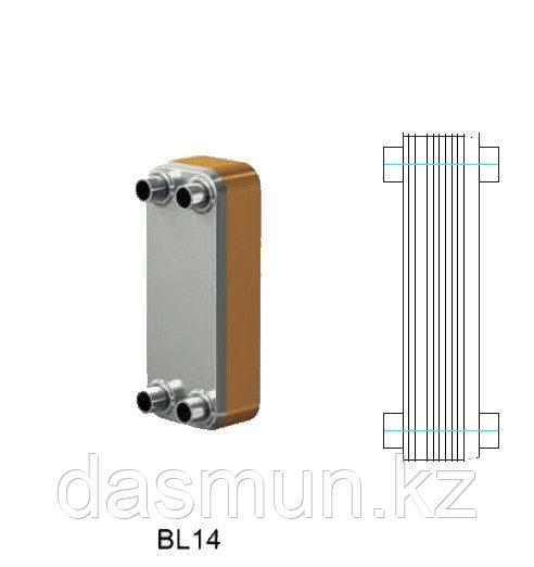 Теплообменник паяный Ditreex BL-14-20 D/2 двухстороннее подключение
