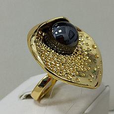 Кольцо с жемчугом / размер 18+ / ЕВ54