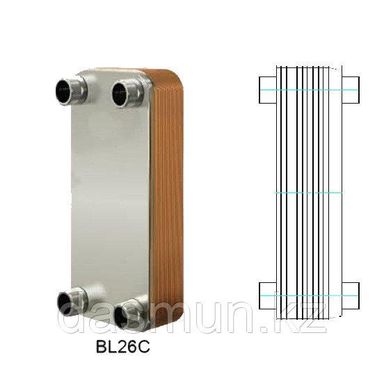 Теплообменник паяный Ditreex BL-14D/2 двухстороннее подключение