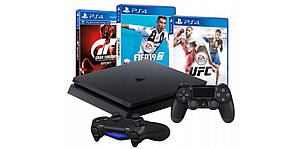 Консоль PS4 SLIM 1 ТБ + 2 PAD + FIFA 19 + GRAN TURISMO SPORT + UFC, фото 2