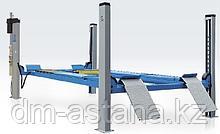 Подъемник четырехстоечный Ravaglioli RAV4502L для сход-развала (5 тонн) длина платформ, 5700 мм