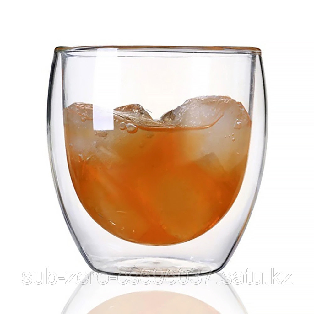 Стеклянный стакан с двойным дном 250мл